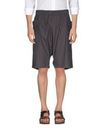 Silent - Damir Doma | Gray Bermuda Shorts for Men | Lyst