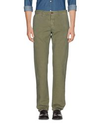 Incotex Red | Green Casual Pants for Men | Lyst