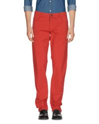 Trussardi   Red Casual Pants for Men   Lyst