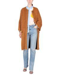 Marni - Brown Coat - Lyst