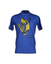 DSquared² - Blue T-shirt for Men - Lyst