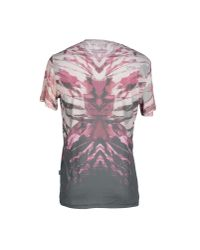 Just Cavalli - Pink T-shirt for Men - Lyst