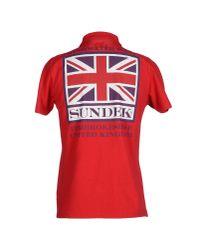 Sundek - Red Polo Shirt for Men - Lyst