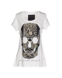 Philipp Plein - White T-shirt - Lyst