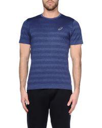 Asics - Blue T-shirt for Men - Lyst