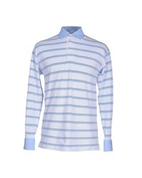 Fedeli - Blue Polo Shirt for Men - Lyst