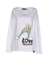 Love Moschino - White T-shirt - Lyst