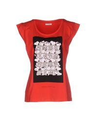 Iceberg - Red T-shirt - Lyst