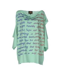 Vivienne Westwood Anglomania | Green T-shirt | Lyst