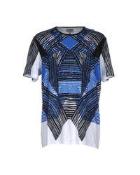 Les Hommes - Blue T-shirt for Men - Lyst