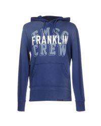 Franklin & Marshall   Blue Sweatshirt for Men   Lyst