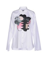 MM6 by Maison Martin Margiela - White Shirt - Lyst