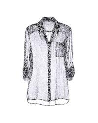 Diane von Furstenberg - Black Shirt - Lyst
