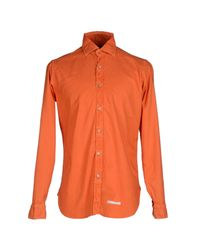 Drumohr - Orange Shirts for Men - Lyst