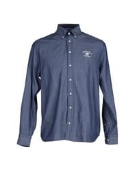 Beverly Hills Polo Club | Blue Shirt for Men | Lyst