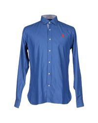 U.S. POLO ASSN. - Blue Shirt for Men - Lyst