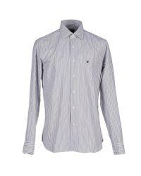 Brooksfield - Gray Shirt for Men - Lyst