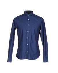 Caliban - Blue Shirt for Men - Lyst