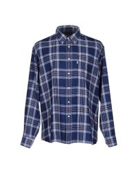 Barbour | Barbour Track Brushed Check Shirt, Denim Blue for Men | Lyst