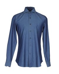 Vincenzo Di Ruggiero - Blue Shirt for Men - Lyst