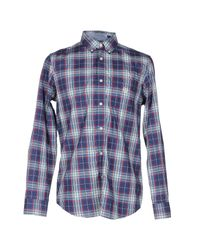 Fred Perry | Blue Marl Winter Check Shirt for Men | Lyst