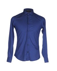AT.P.CO | Blue Shirt for Men | Lyst