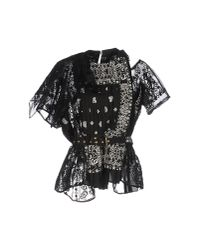 Sacai - Black Blouse - Lyst