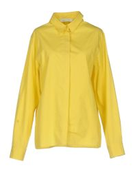 Cedric Charlier - Yellow Shirt - Lyst