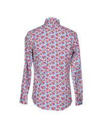 Grey Daniele Alessandrini   Purple Shirt for Men   Lyst