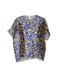 Peter Pilotto - Blue Blouse - Lyst