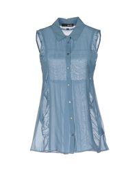 Liu Jo | Blue Shirt | Lyst