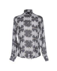 Class Roberto Cavalli | Gray Shirt for Men | Lyst