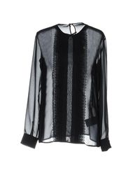 RED Valentino - Blue Blouse - Lyst