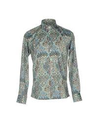 Etro - Blue Shirt for Men - Lyst