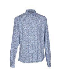 Poggianti - Blue Shirt for Men - Lyst