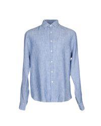 Bagutta | Blue Shirt for Men | Lyst