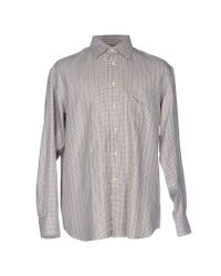 Canali - Brown Shirt for Men - Lyst