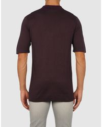 Emporio Armani - Brown Polo-neck for Men - Lyst