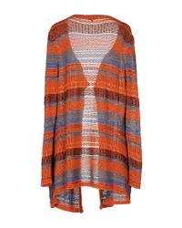 Etro - Orange Red Multicolor Flower Print Silk Pullover - Lyst