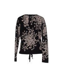 Chloé - Bouquet Black Wool Blend Jumper - Lyst