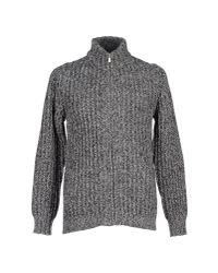 Fred Perry - Gray Cardigan for Men - Lyst