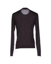 Dolce & Gabbana - Black Dagger-print Wool Sweater for Men - Lyst