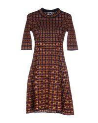 M Missoni | Blue Short Dress | Lyst