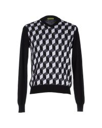 Versace Jeans   Black Sweater for Men   Lyst