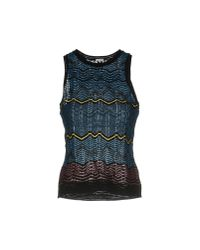 M Missoni - Blue Jumper - Lyst