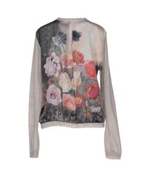 Just In Case - Gray Cardigan - Lyst