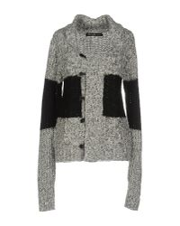 Blend She - Gray Cardigan - Lyst