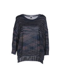 M Missoni - Blue Sweater - Lyst