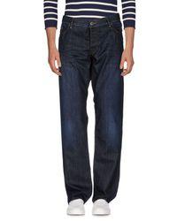 BOSS Orange - Blue Denim Trousers for Men - Lyst