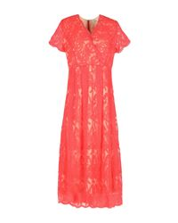 Darling | Red 3/4 Length Dress | Lyst